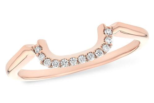 0.07ctw Diamonds 14k Rose Gold Wedding Ring