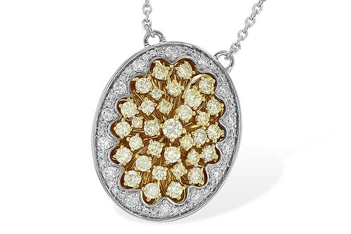 1.75ctw 1.21ctw Yellow Diamonds 14k White Gold Pendant Necklace