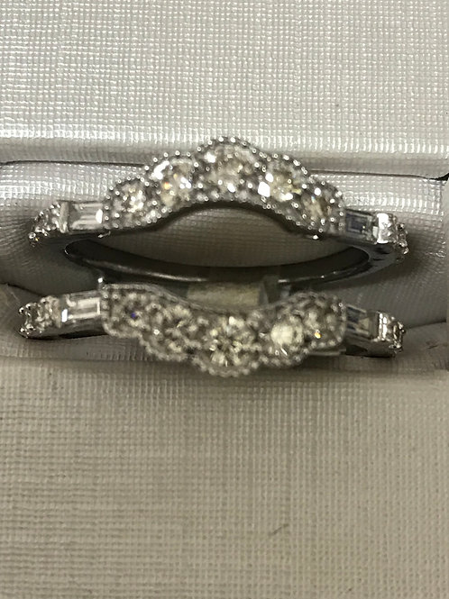0.88Ctw Diamonds Engagement Ring Wrap 14k Gold Band
