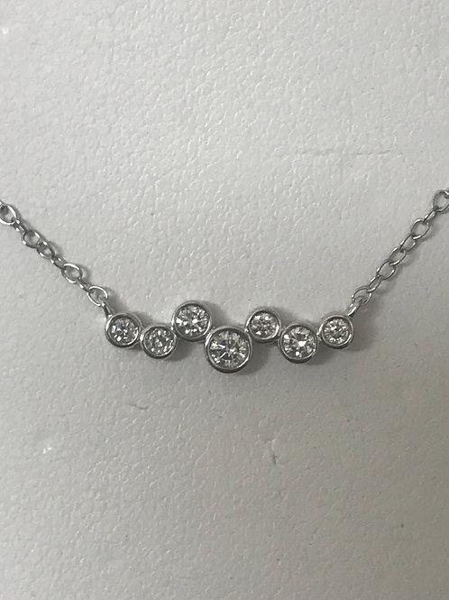 1/5ctw Diamond Accented Cross Pendant Necklace 14k White Go