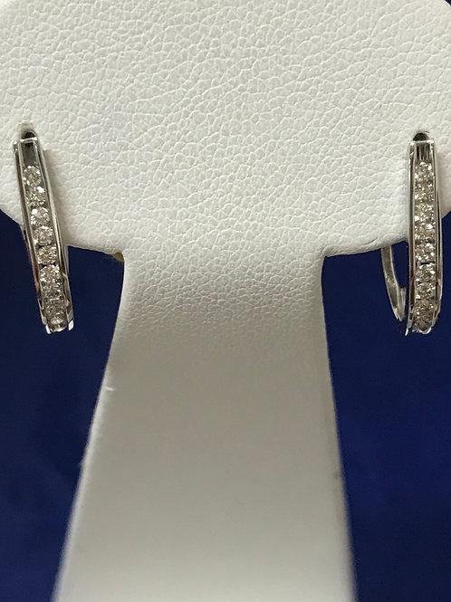 0.65ctw Diamonds 14k Gold Hoop Earrings