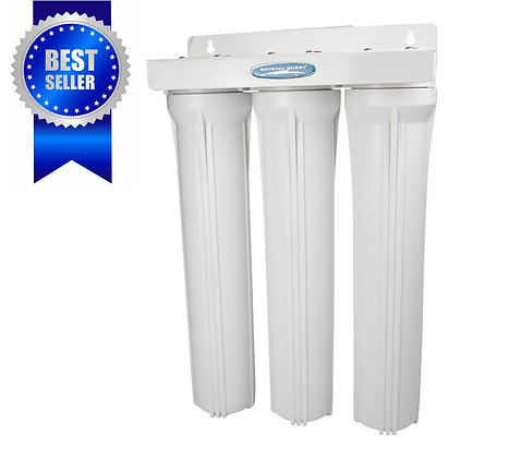 Whole House Compact Water Filter Slim Triple SMART Series (3-6 GPM)