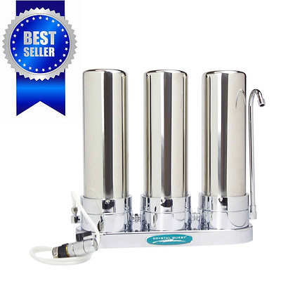 Fluoride Removal + SMART Triple Countertop Water Filter System