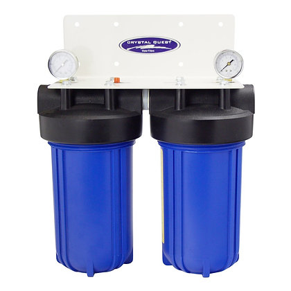 Whole House Compact Water Filter Blue Double SMART Series (3-6 GPM)