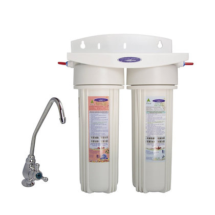 Lead Removal + SMART Double Under Sink Water Filter System