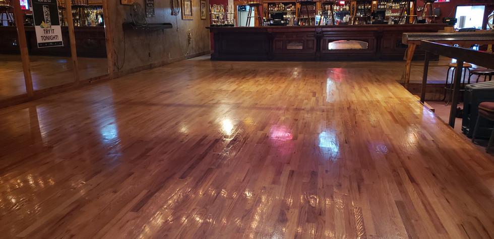 Dance Floor Install Chisholm's Saloon