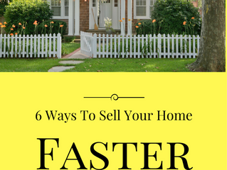 6 Ways To Sell Your Home Faster