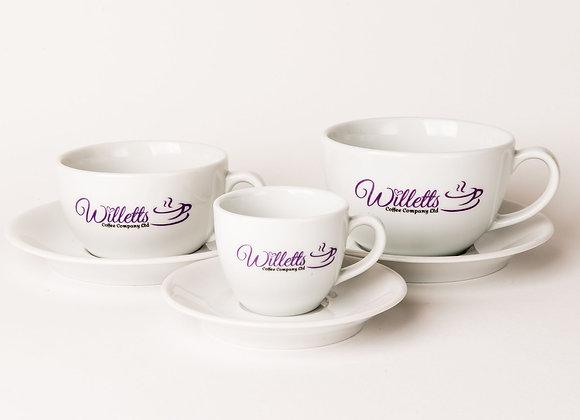 12 x Espresso Cups & Saucers