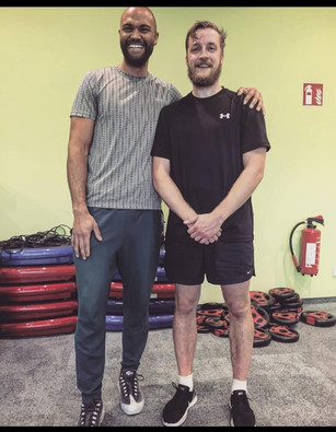 Otto and Patrick Cole after a workout session.