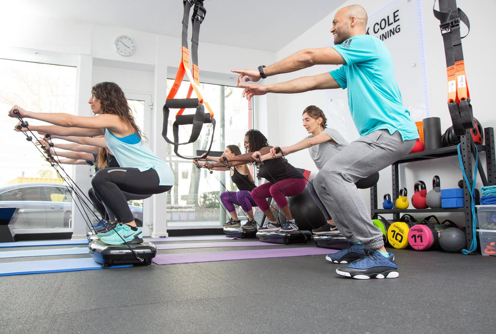 Patrick Cole during group fitness and personal training