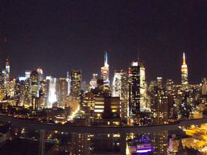 1on1 basketball session and NYC skyline
