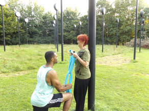 PT session at the park