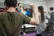 Patrick Cole during a company fitness session. Help employees feel better while at work.