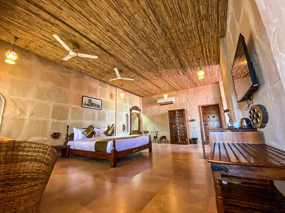 Hotel guest room from our Ranthambore National Park tours, India