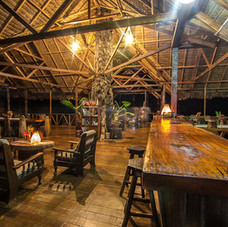 Wine and dine in the photo lodge here in Tambopata after each day of photography.