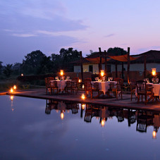 Each meal is located at a different location giving you a different experience, Bandhavgarh, India