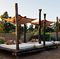 We offer relaxing areas with spectacular views of Bandhavgarh forest, India