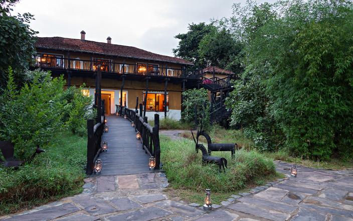 Luxury Safary Lodge used during our photo safaris, Bandhavgarh, India