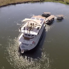 Exclusive House Boat, taken with drone