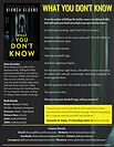 What You Don't Know by Bianca Sloane - Fact Sheet - Revie