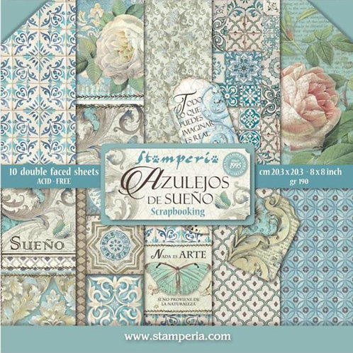 Azulejos De Sueno 8x8 Paper Pack by Stamperia-10 Double Sided Design Papers