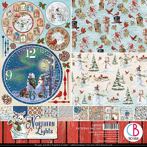 Northern Lights by Ciao Bella-8-12x12 Double-Sided Papers-CBT038