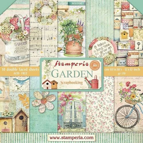 Garden by Stamperia - 10 - 12x12 Double-Sided Design Papers-Item #SBBL43