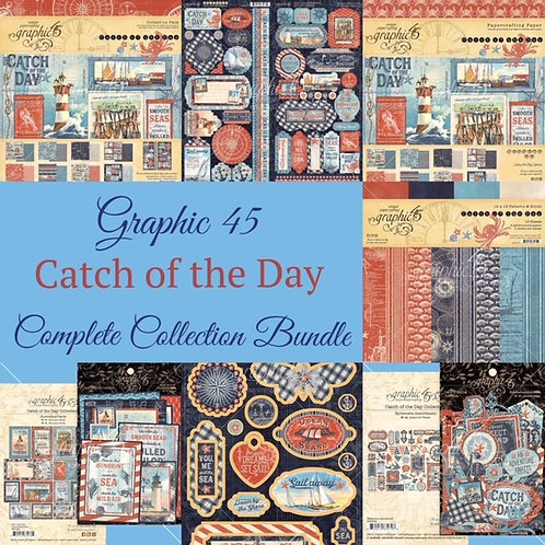 PREORDER Graphic 45-Catch of the Day-Complete Collection Bundle