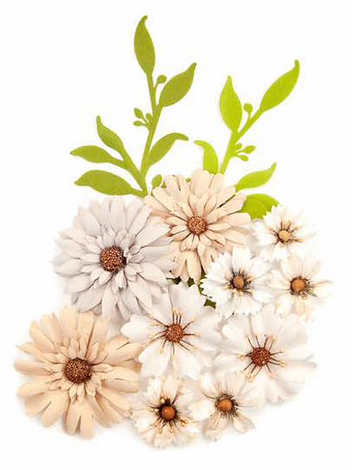 Pretty Pale Flowers - Floral Landscape - Item #637644