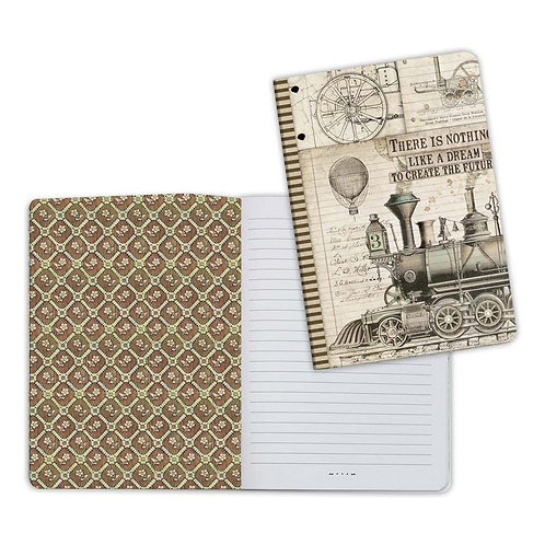 Voyages Fantastiques-Train Notebook by Stamperia-6x8.25-Item #ENBA5003