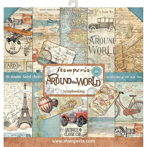 Around The World by Stamperia - 12x12 Paper Pack-Item #SBBL28