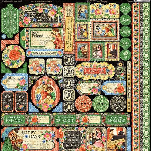 Little Women 12 x 12 Sticker Sheet