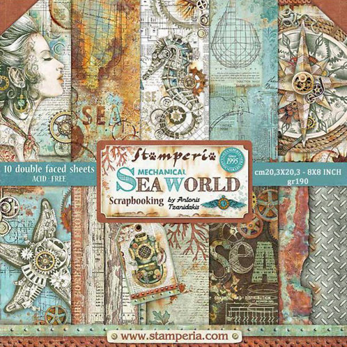 Sea World 8x8 Paper Pack by Stamperia - 10 Double Sided Design Papers