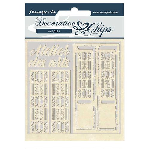 Stamperia - Decorative Chips - Atelier Des Arts - Doors
