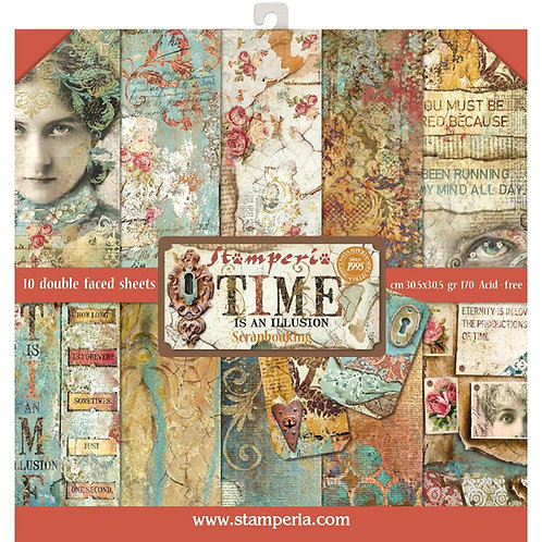 Time is an Illusion by Stamperia-12x12 Paper Pack