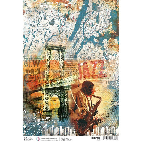 Blue Note - Jazz - A4 Rice Paper By Ciao Bella