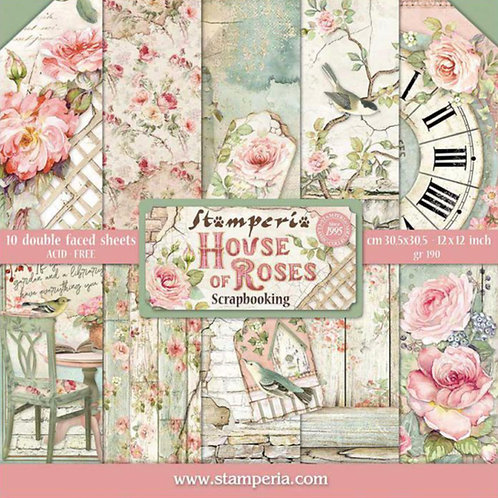 House of Roses by Stamperia - 10 - 12x12 Double-Sided Sheets-Item #SBBL66