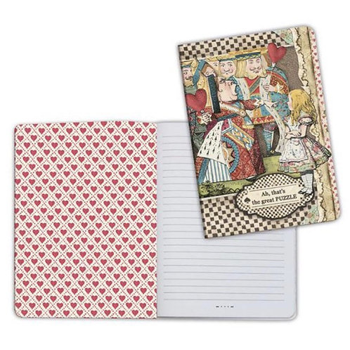 Alice  Mad Hatter Notebook by Stamperia-6x8.25-Item #ENBA5024