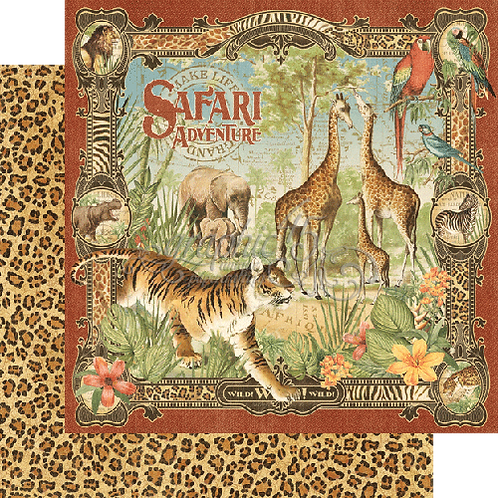 Graphic 45 - Limited Edition - Safari Adventure 8x8 Paper Pack