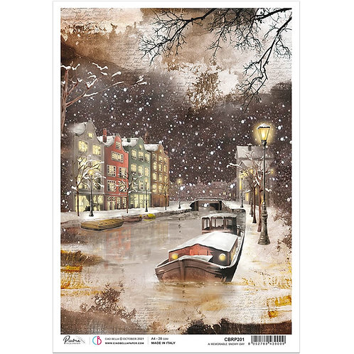 PRE ORDER Memories of a Snowy Day - A4 Rice Paper by Ciao Bella