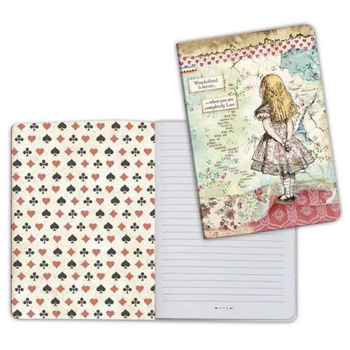 Alice Notebook by Stamperia-6x8.25-Item #ENBA5023