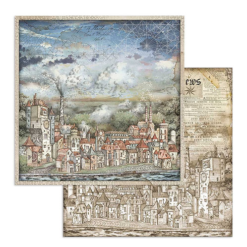 Stamperia-Sir Vagabond - Cityscape - 2 - 12x12 Single Sheets