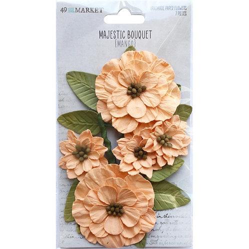 49 and Market - Majestic Bouquet - Mango - 7 pieces