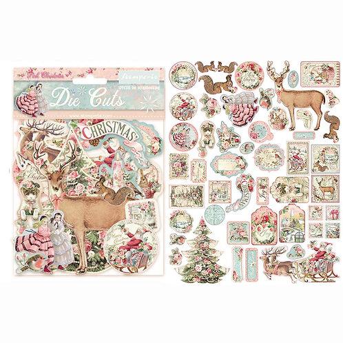 Stamperia-Pink Christmas-Die Cuts-Item #DFLDC15