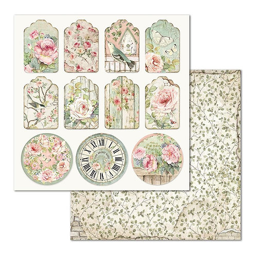 Stamperia-House of Roses Tags - 2 - 12x12 Single Sheets