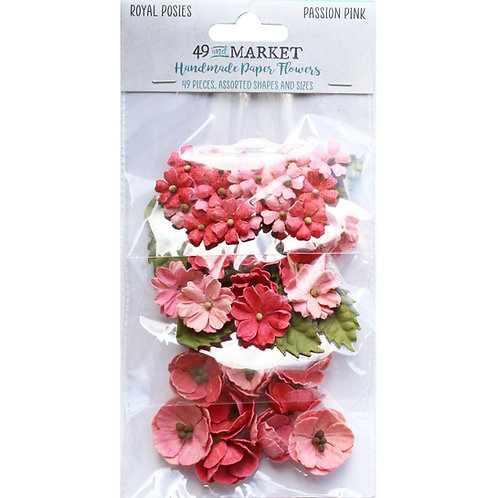 49 and Market - Royal Posies - Passion Pink - 49 Pieces