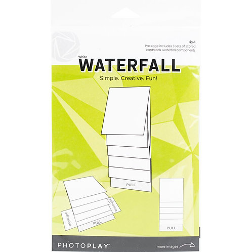 PhotoPlay - Maker Series - 4 x 4 Mechanical Waterfall Kit - White