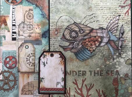 Stamperia Sea World 8 1/2 x 8 1/2 mini album