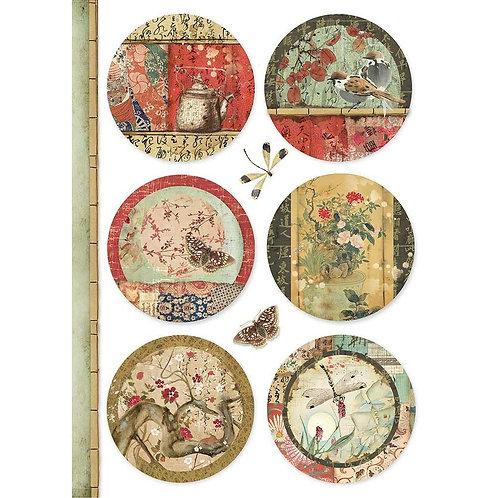 Oriental Spheres Rice Paper by Stamperia-Item #DFSA4395