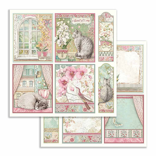 Stamperia-Orchids & Cards - 2 - 12x12 Single Sheets